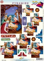 Hobbypost 3D Stansvel Pyramide 6018 De wijze bij Jezus