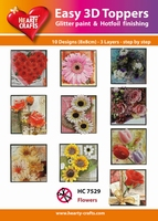 Hearty Crafts Easy 3D Toppers  HC7529 Bloemen in vierkant