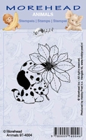 Clear stamps Morehaed Animals 97-4004 Hond-Bloem