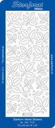 Stickervel Starform Velvet/Fluweel 7110 Blaadjes