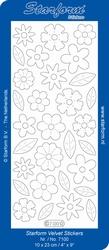 Stickervel Starform Velvet/Fluweel 7100 Bloemen