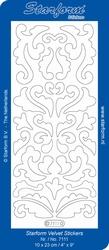 Stickervel Starform Velvet/Fluweel 7111 Krullen
