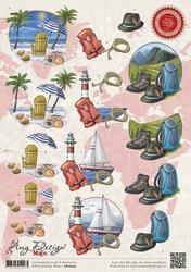 3D Knipvel Amy Design CD10503 Maps Vakantie