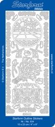 Stickervel Starform  834 Hollands/molen/tulpen