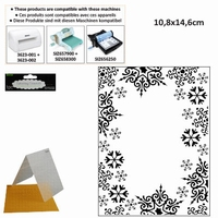 Darice Embossing folder 1219-135 Snowflake trim/sneeuwvlok