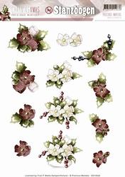3D Stansvel Precious Marieke SB10049 Charming Xmas Flower