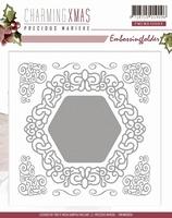 Precious Marieke's embossing folder 10004 Charming Xmas
