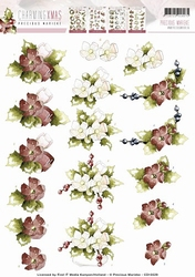 3D Knipvel Precious Marieke CD10529 Charming Xmas Flower