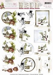 3D Knipvel Precious Marieke CD10528 Charming Xmas Country
