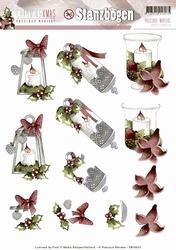 3D Stansvel Precious Marieke SB10047 Charming Xmas Candles