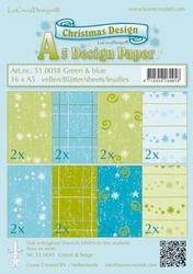 LeCreaDesign papier 510058 Christmas groen-blauw