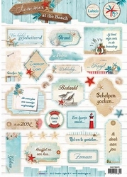 A4 Stansvel Studio Light SB476 Summer at the Beach labels