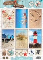 A4 Studio Light knipvel 1342 Summer at the Beach foto's