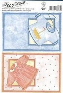 Deco Draw baby roze/blauw DD006