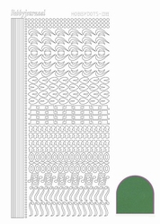 Stickervel Hobbydots Mirror STDM182 Green