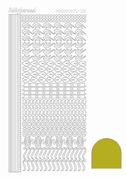 Stickervel Hobbydots Mirror STDM18E Yellow