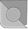 Romak 4-kanten kaart vouw rond 21 Wit