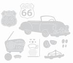 Sizzix ThinLits 659506 Vintage Car & Radio