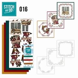 Stitch and Do borduursetje STDO016 Brocante kerst