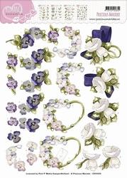 3D Knipvel Precious Marieke CD10525 Romance Flowers