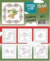 Stitch & Do Cards only COSTDO10007 set 07