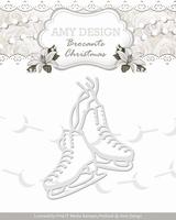 Amy Design Die Brocante Christmas ADD10036 Figure Skates