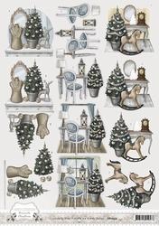 3D Knipvel Amy Design CD10533 Brocante Christmas Home