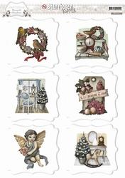 3D Stansvel Amy Design SB10051 Brocante Christmas Topper