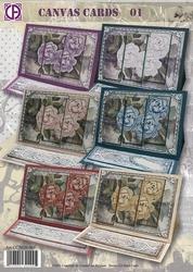 Creatief art A4 pakket CC3020-001 Canvas Cards 01