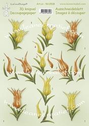 LeCreaDesign A4 Knipvel 500508 Tulips/tulpen