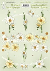 LeCreaDesign A4 Knipvel 500515 Daffodils/narcissen
