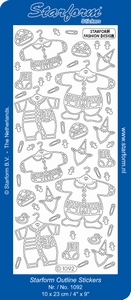 Stickervel Starform 1092 Geboorte baby kleertjes