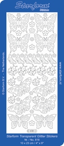 Stickervel Starform Transparant Glitter 818 vlinder
