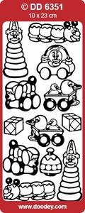 Stickervel Doodey DD6351 Geboorte/baby/speelgoed