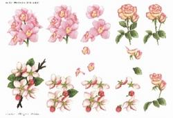A4 Knipvel Wekabo 402 Orchidee/roos