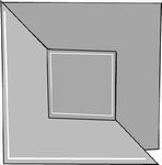 Romak 4-kant kaart 256 Vouw vierkant 58 terra