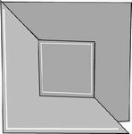 Romak 4-kant kaart 256 Vouw vierkant 25 donker blauw