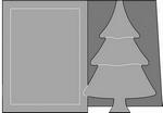 Romak stanskaart A6 kerstboom 21 wit