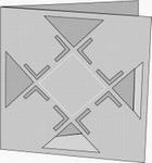 Romak 4-kanten Mozaiekkaart 21 wit