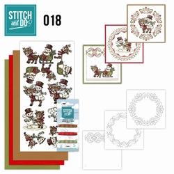 Stitch and Do borduursetje STDO018 Snowman and Reindeer