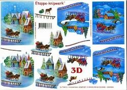 A4 Knipvel Le Suh Kerst 4169187 Landschap id sneeuw/arreslee