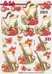 A4 Kerstknipvel Le Suh 8215205 Muziekvel met harp/saxofoon