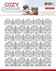 Yvonne's Embossing Folder YCEMB10004 Cozy Christmas