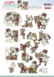3D Push Out Yvonne Creations SB10058 Cozy Christmas