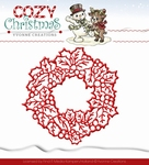 Yvonne's Die YCD10035 Cozy Christmas Wreath