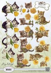 3D Knipvel Amy Design CD10537 Animal Medley Kittens