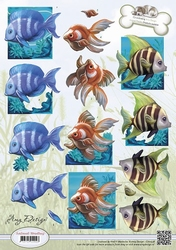3D Knipvel Amy Design CD10538 Animal Medley Tropical Fish