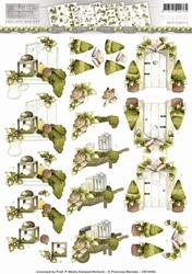 3D Knipvel Precious Marieke CD10564 Rustic Christmas Garden