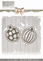 Precious Marieke Die Rustic Christmas PM10043 Bauble Set
