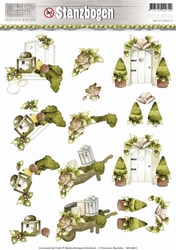 3D Stansvel Precious Marieke SB10063 Rustic Christmas Garden